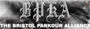 Banner and link to the parkour and freerunning website of the bristol parkour alliance