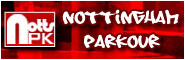 Banner and link to the parkour and freerunning website of nottingham parkour