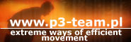 Banner and link to the parkour and freerunning website of the P3.Team crew